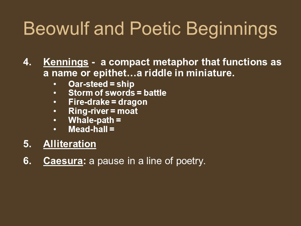 Beowulf and Poetic Beginnings