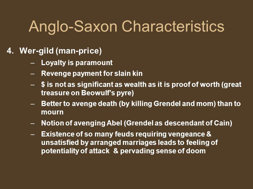Anglo-Saxon Characteristics