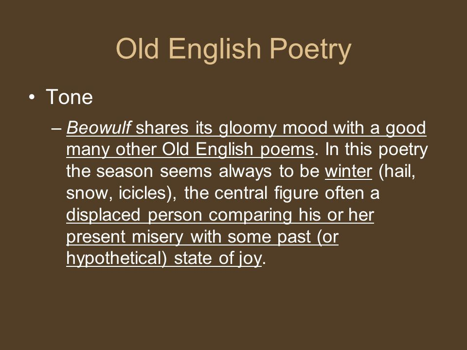 Old English Poetry Tone