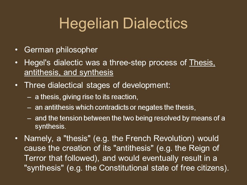Hegelian Dialectics German philosopher