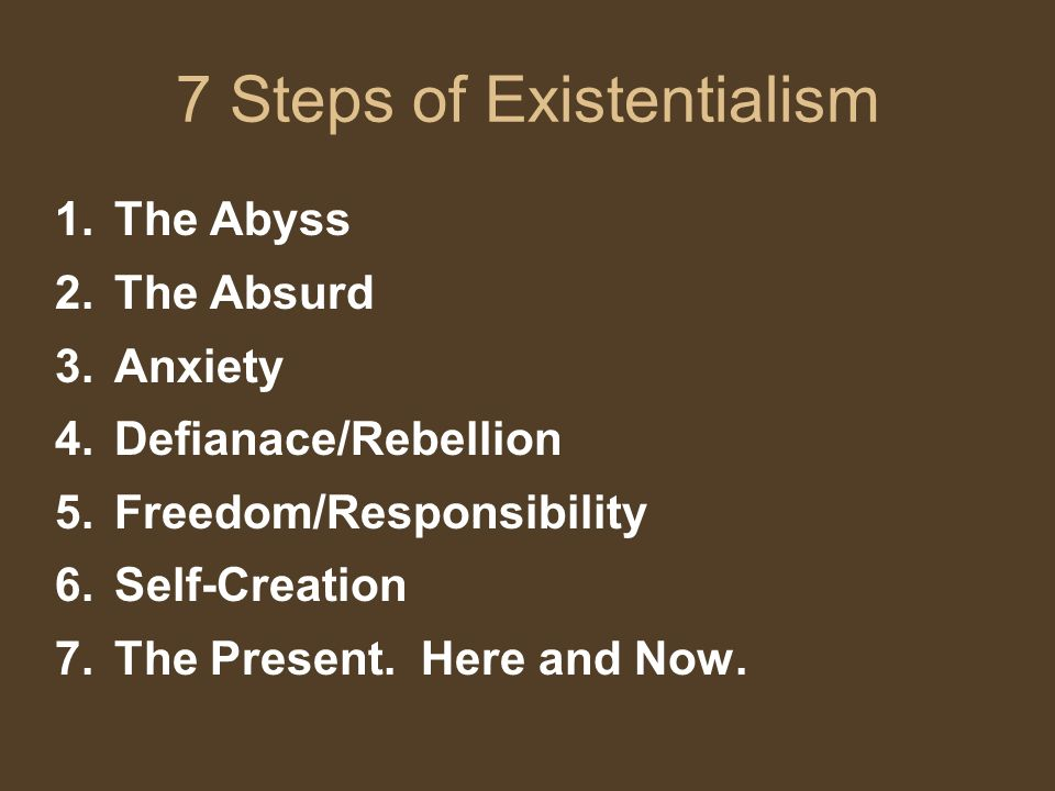 7 Steps of Existentialism