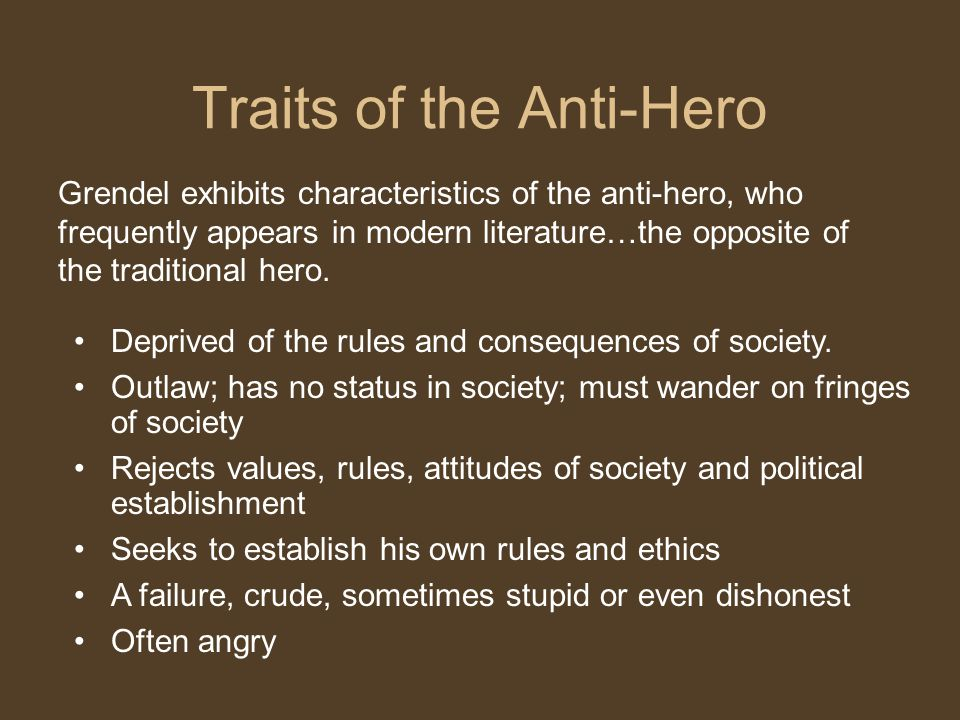 Traits of the Anti-Hero