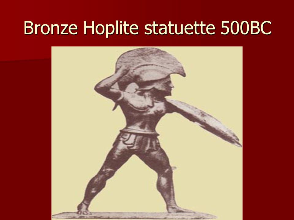 Bronze Hoplite statuette 500BC
