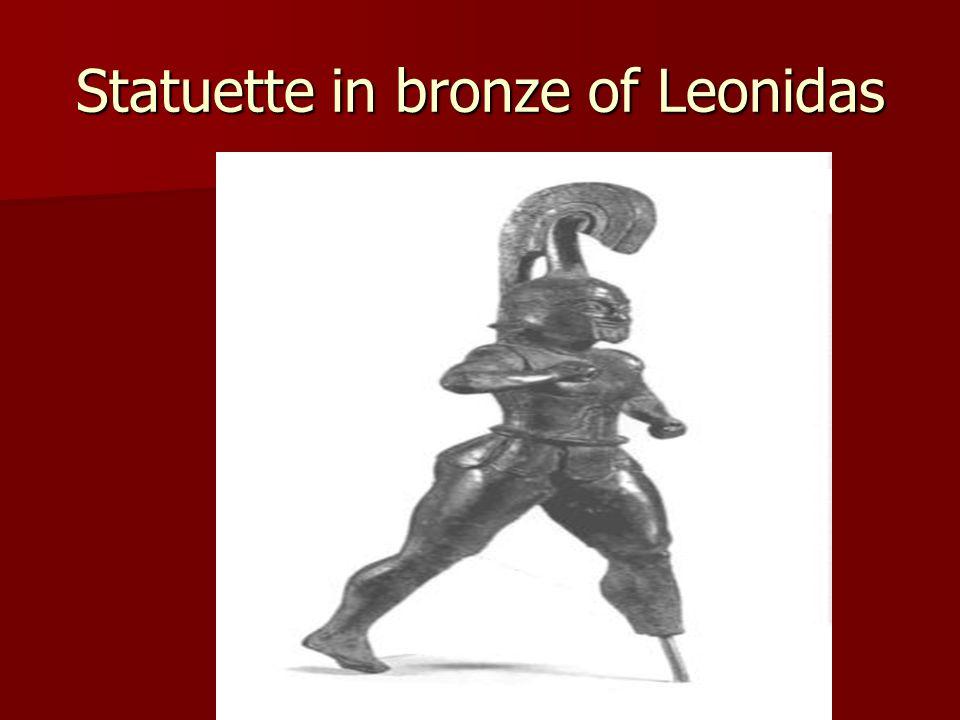 Statuette in bronze of Leonidas