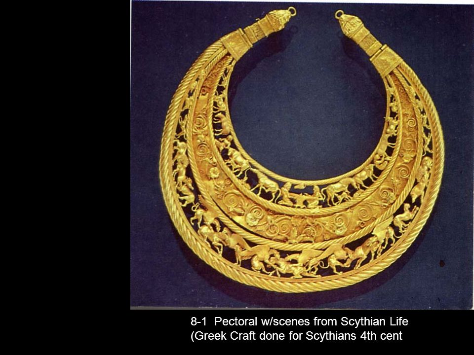8-1 Pectoral w/scenes from Scythian Life