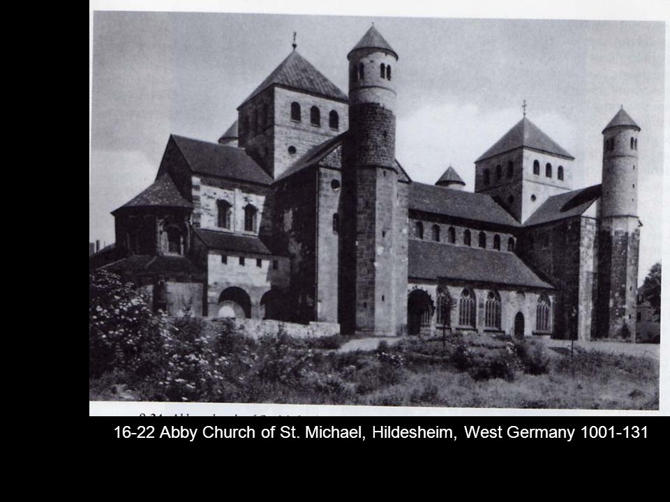 16-22 Abby Church of St. Michael, Hildesheim, West Germany 1001-131