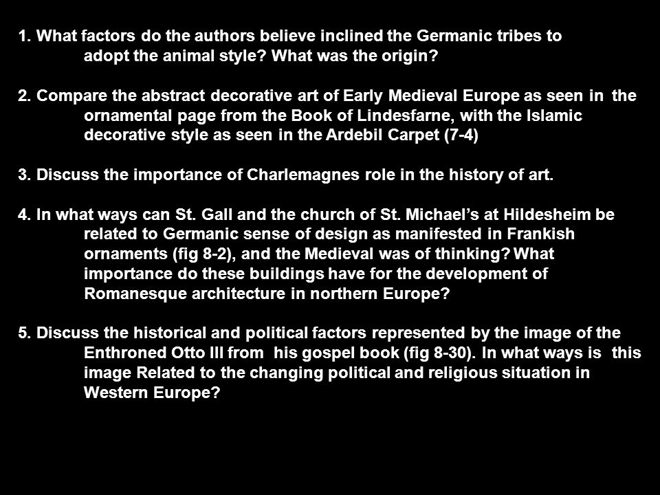1. What factors do the authors believe inclined the Germanic tribes to