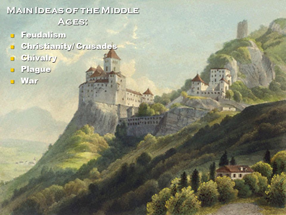 Main Ideas of the Middle Ages: