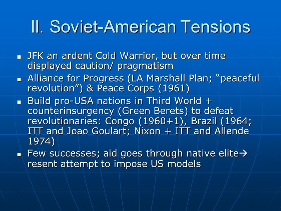 II. Soviet-American Tensions
