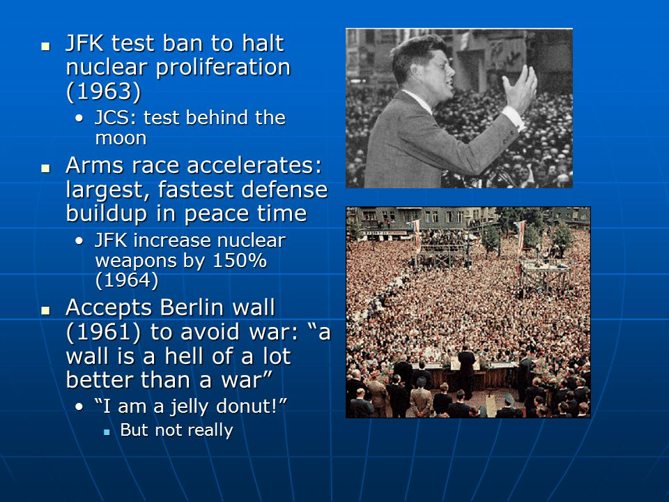 JFK test ban to halt nuclear proliferation (1963)