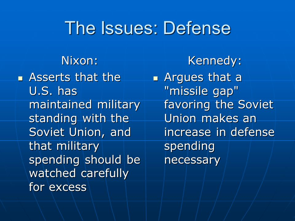 The Issues: Defense Nixon: