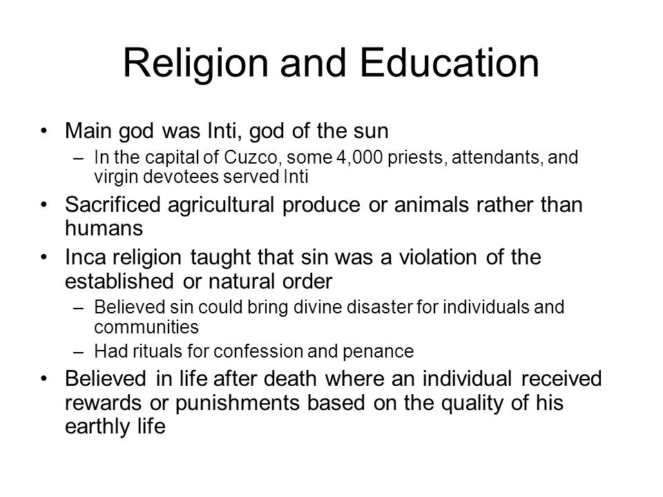 sociology and inca death cult Which religious organization began as a cult all of the above  if you were to visit a low income nation to study its high death rates what would you suspect to be the most common causes of death  sociology chapter 11, 13, 14, 15 review 141 terms sociology 101 99 terms ssc 131 ch 5,8,9,10.