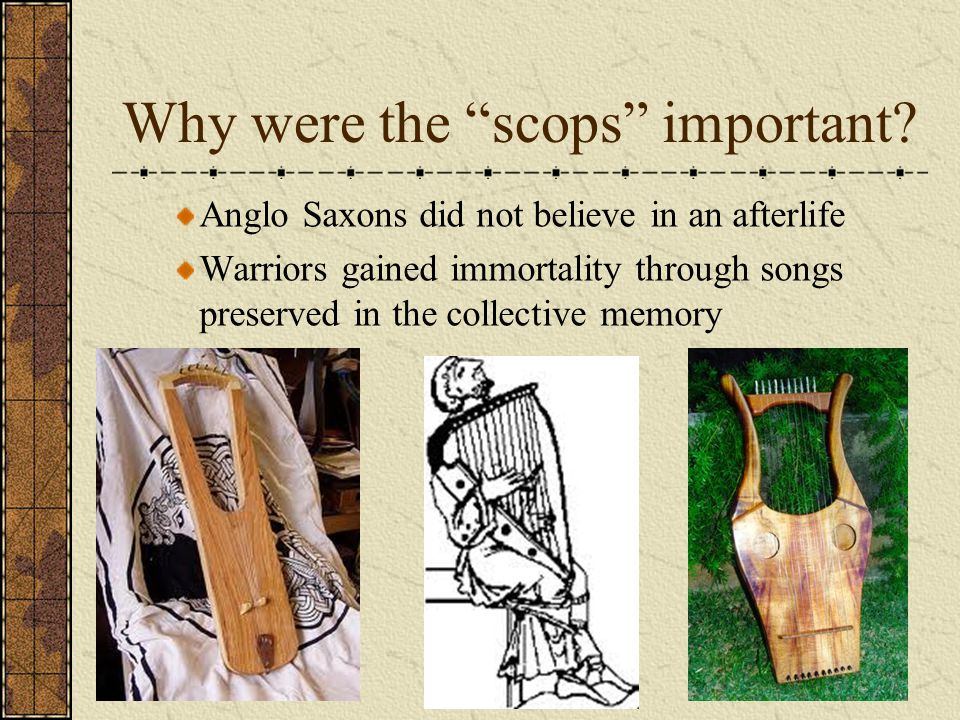 Why were the scops important
