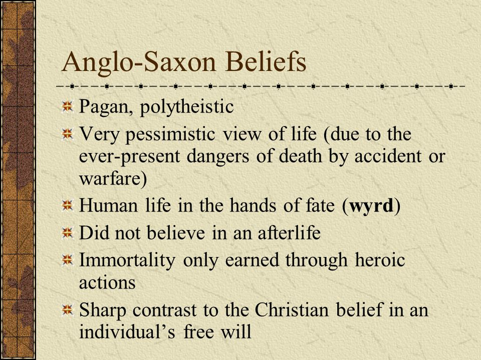 Anglo-Saxon Beliefs Pagan, polytheistic