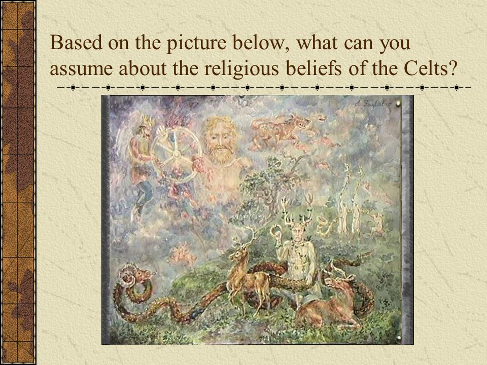 Based on the picture below, what can you assume about the religious beliefs of the Celts