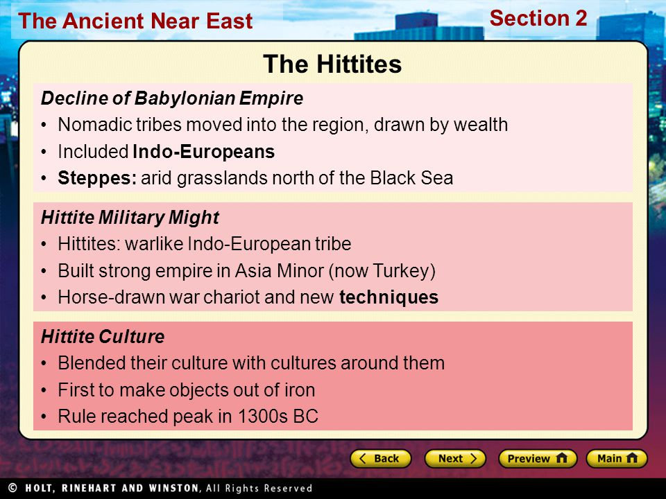 The Hittites Decline of Babylonian Empire