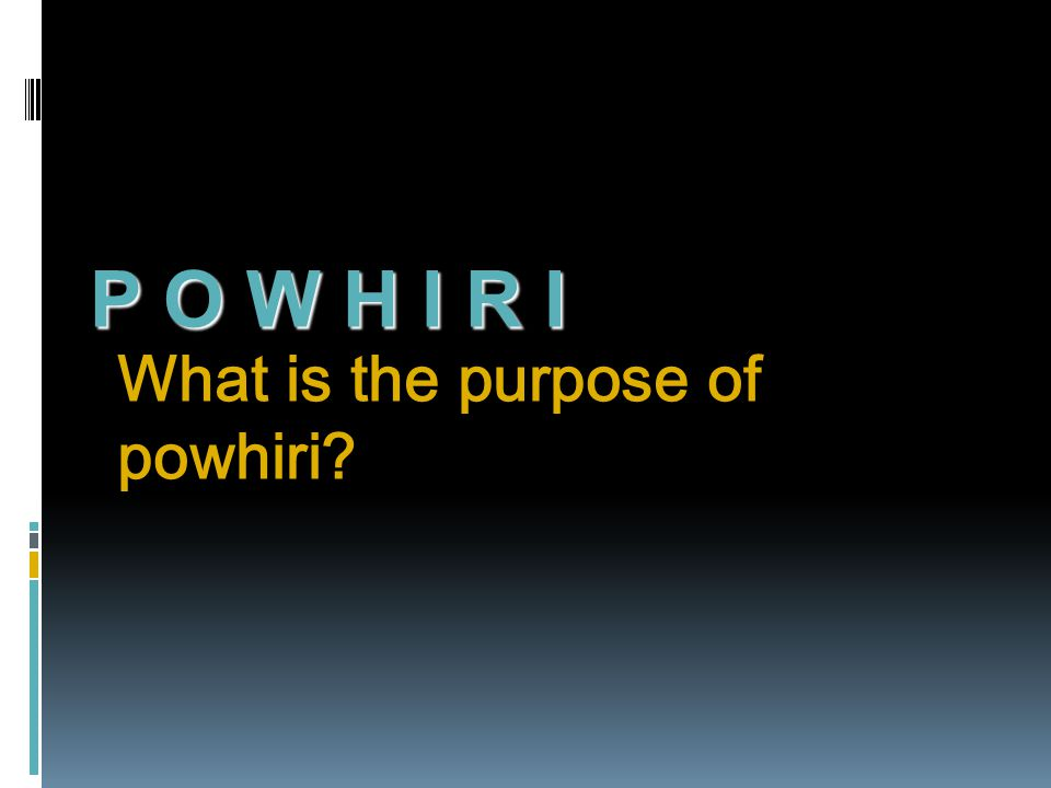 What is the purpose of powhiri