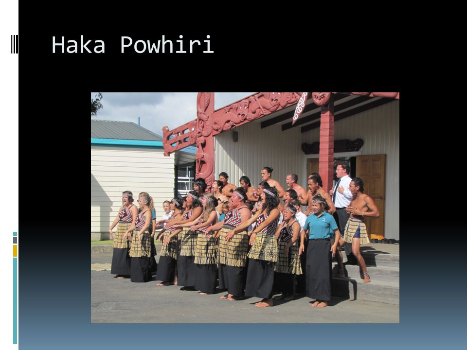 Haka Powhiri On special occasions you will see a haka powhiri welcome the guests.