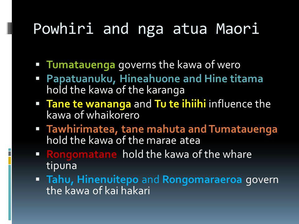 Powhiri and nga atua Maori