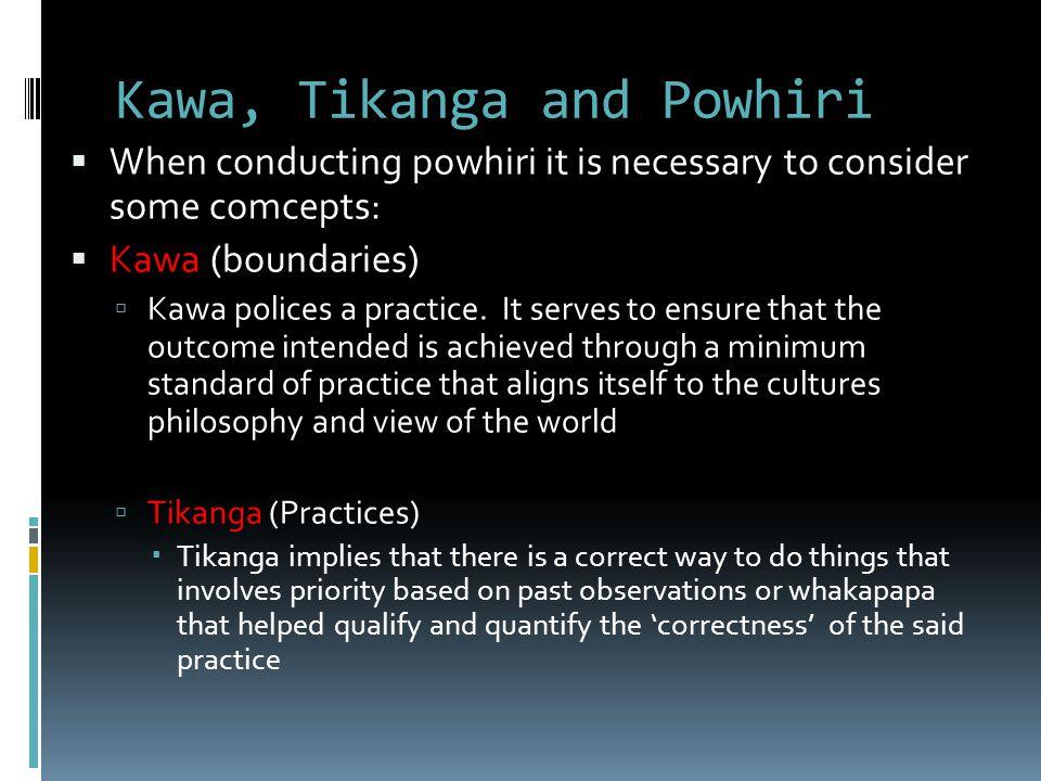 Kawa, Tikanga and Powhiri