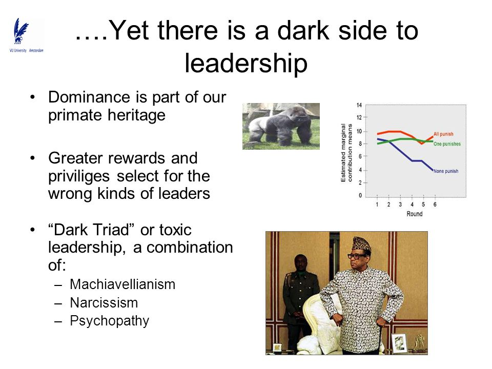 ….Yet there is a dark side to leadership