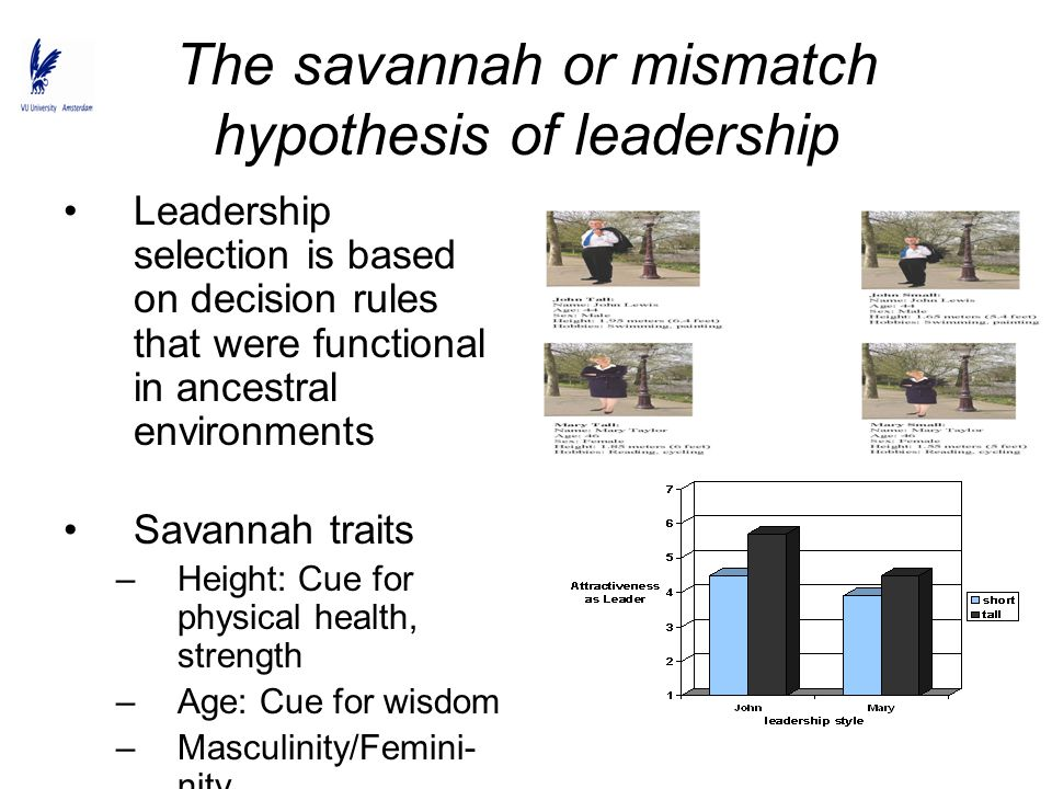 The savannah or mismatch hypothesis of leadership