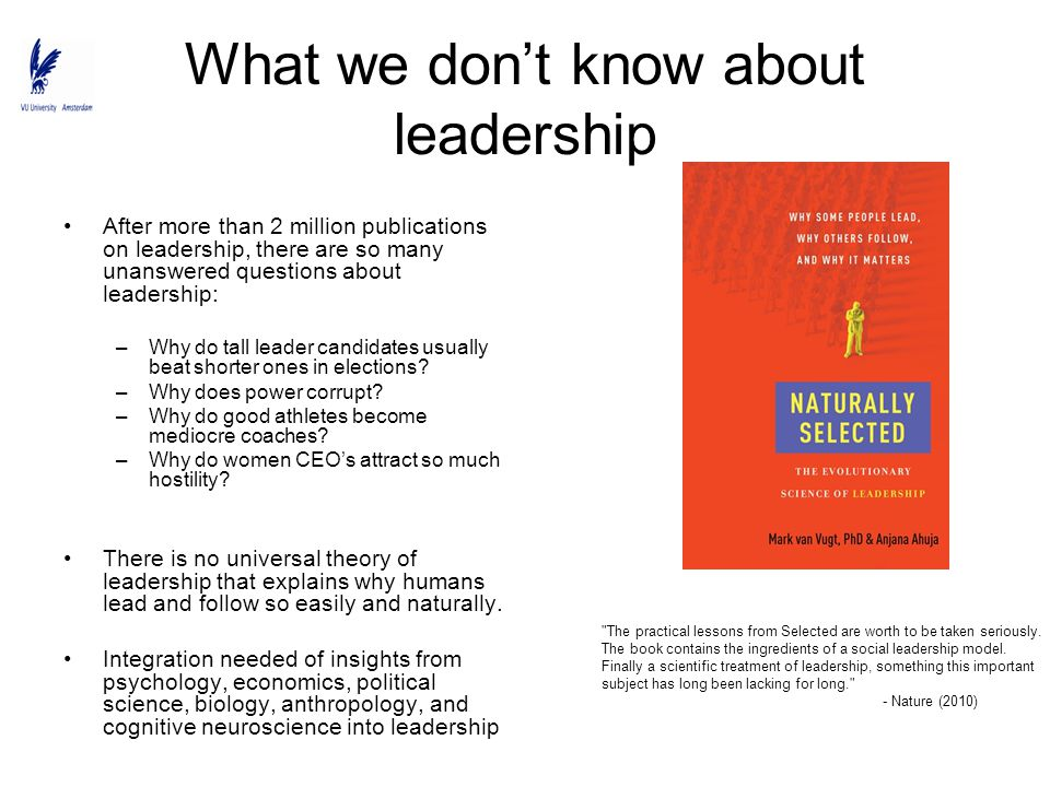 What we don't know about leadership