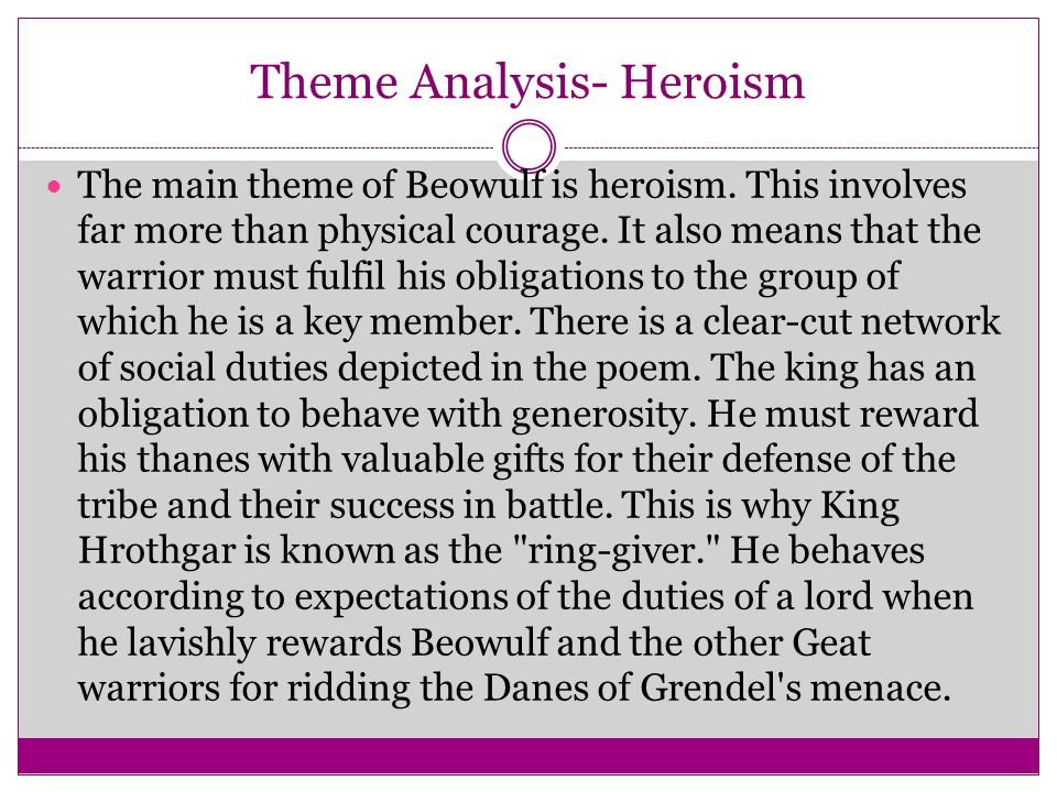 Theme Analysis- Heroism
