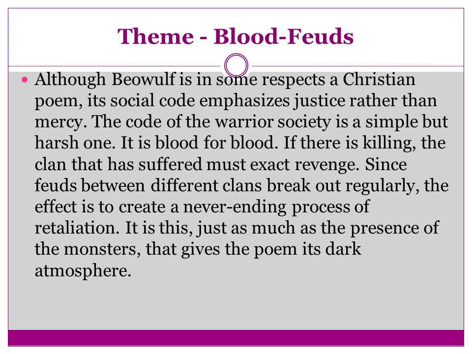Theme - Blood-Feuds