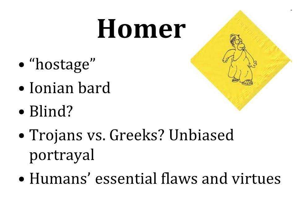 Homer hostage Ionian bard Blind