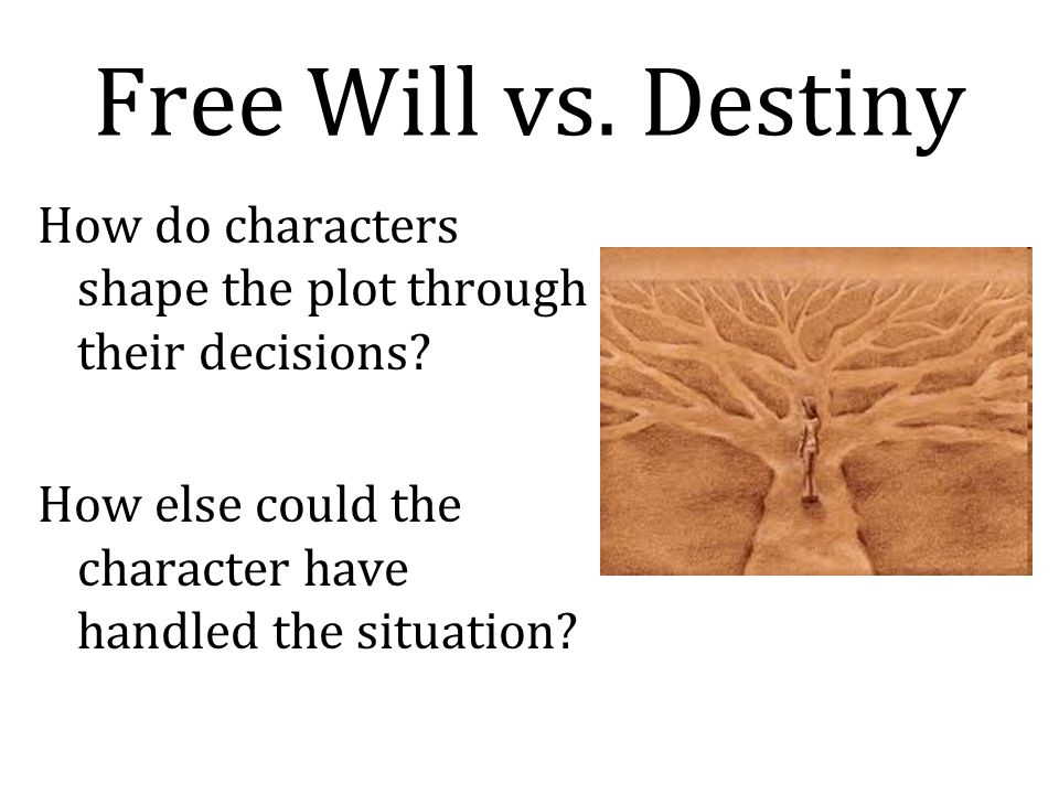 Free Will vs. Destiny How do characters shape the plot through their decisions.