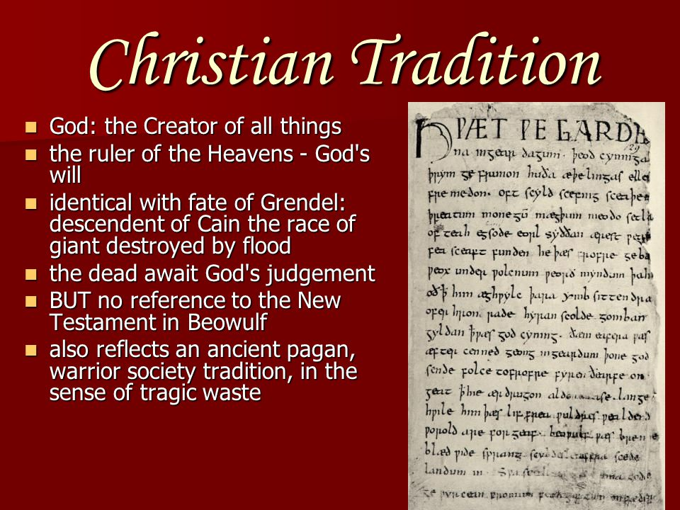 Christian Tradition God: the Creator of all things