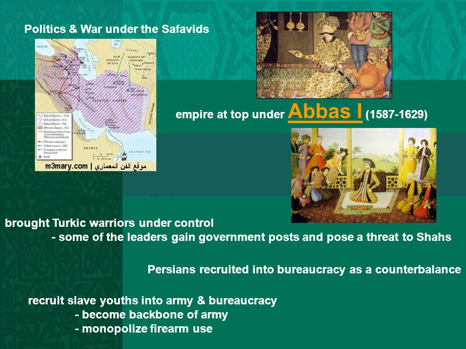 Politics & War under the Safavids