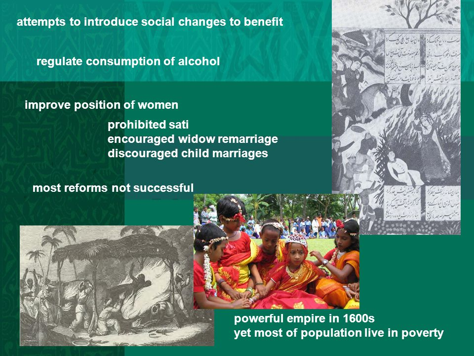 attempts to introduce social changes to benefit