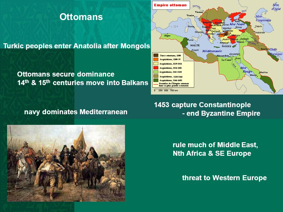 Ottomans Turkic peoples enter Anatolia after Mongols