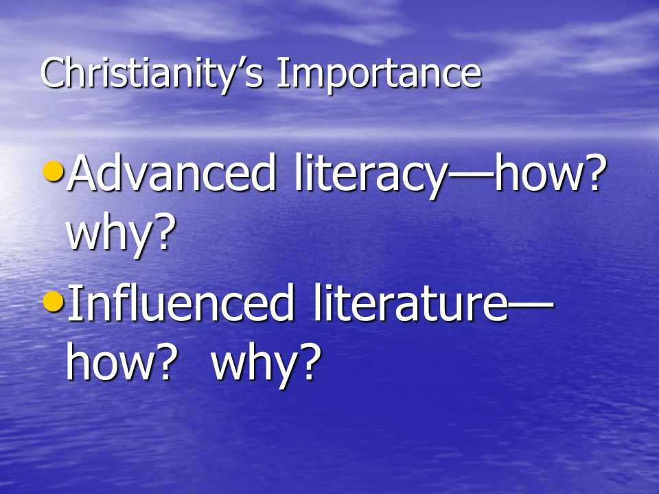 Christianity's Importance