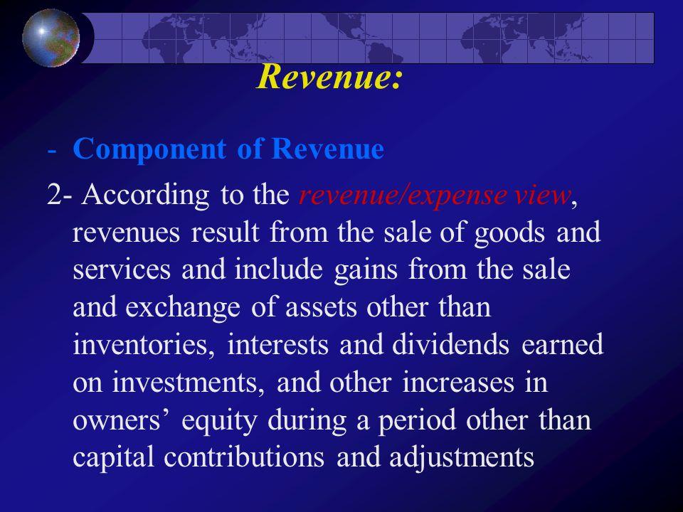 Revenue: Component of Revenue