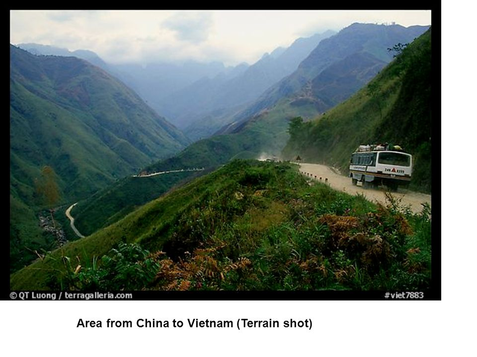 Area from China to Vietnam (Terrain shot)