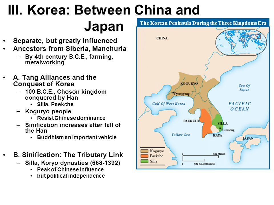 III. Korea: Between China and Japan
