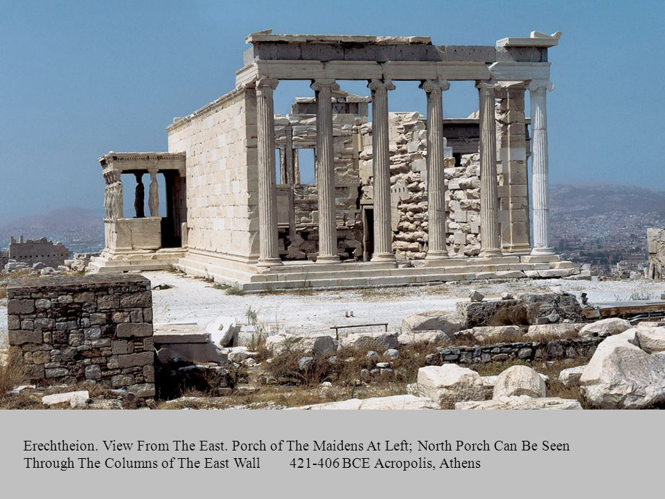 Artist: n/a Title: Erechtheion. View From The East. Porch of The Maidens At Left; North Porch Can Be Seen Through The Columns of The East Wall.