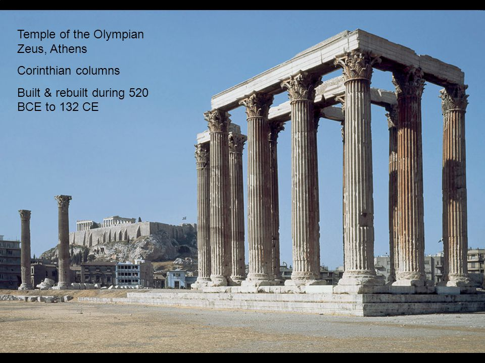Temple of the Olympian Zeus, Athens Corinthian columns