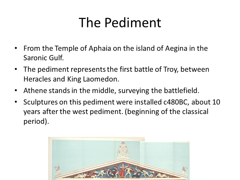 The Pediment From the Temple of Aphaia on the island of Aegina in the Saronic Gulf.