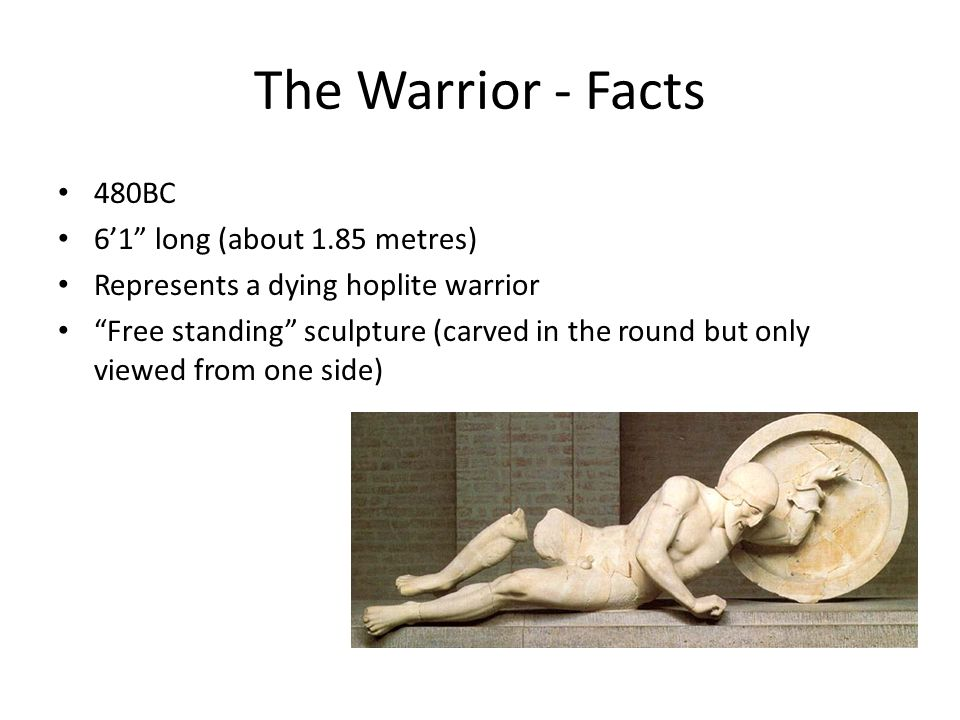 The Warrior - Facts 480BC 6'1 long (about 1.85 metres)