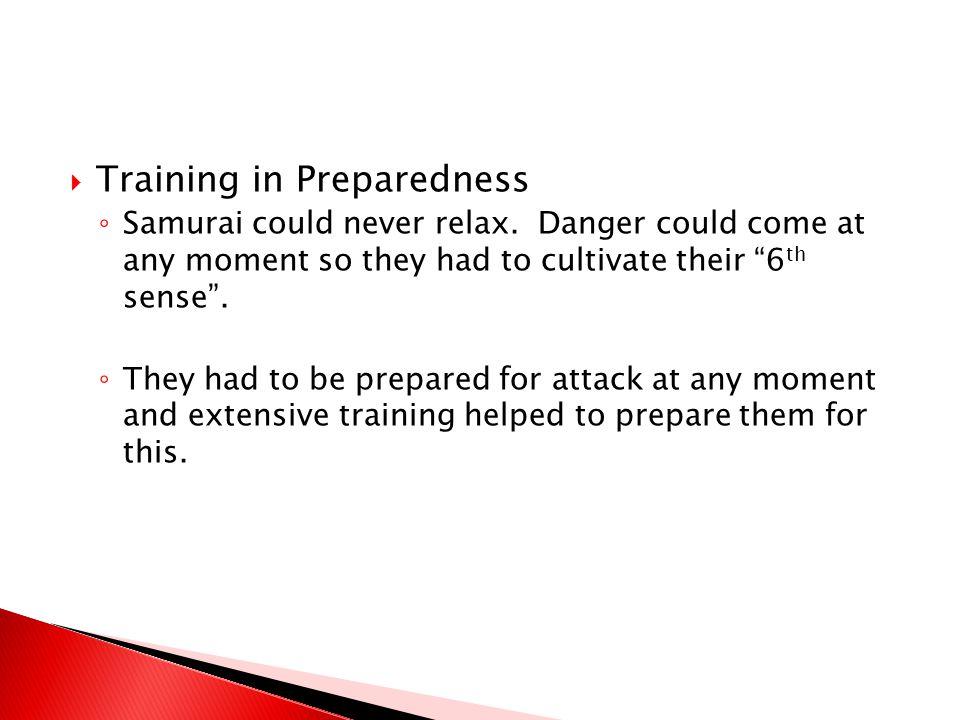 Training in Preparedness