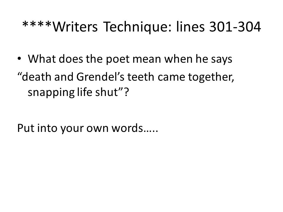 ****Writers Technique: lines 301-304