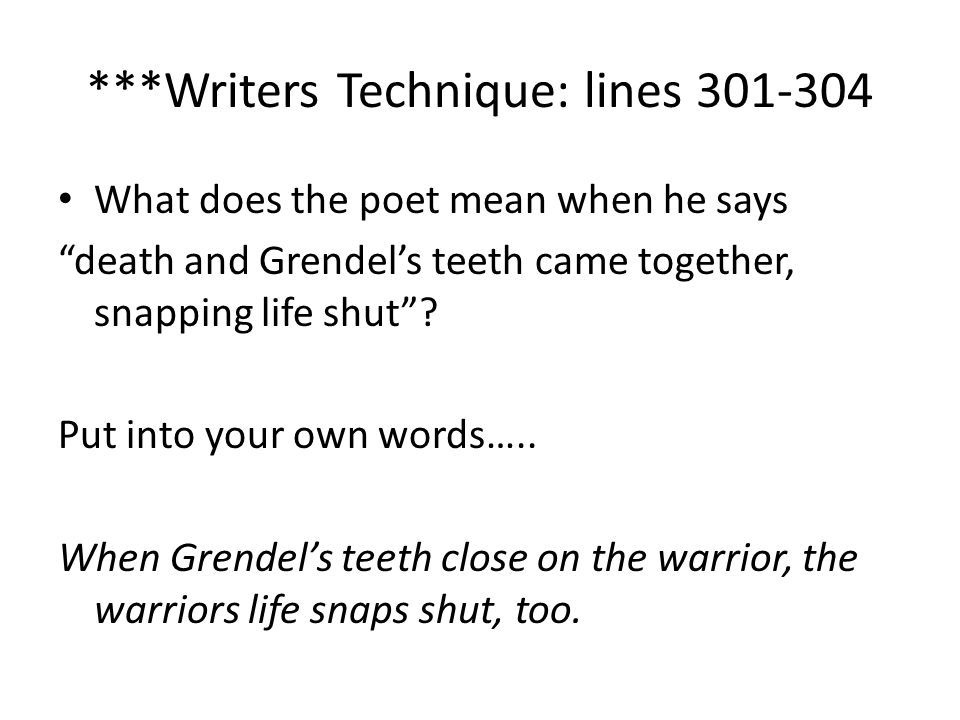 ***Writers Technique: lines 301-304