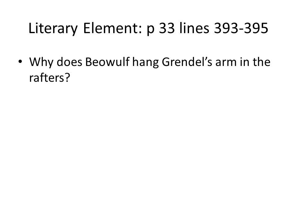 Literary Element: p 33 lines 393-395