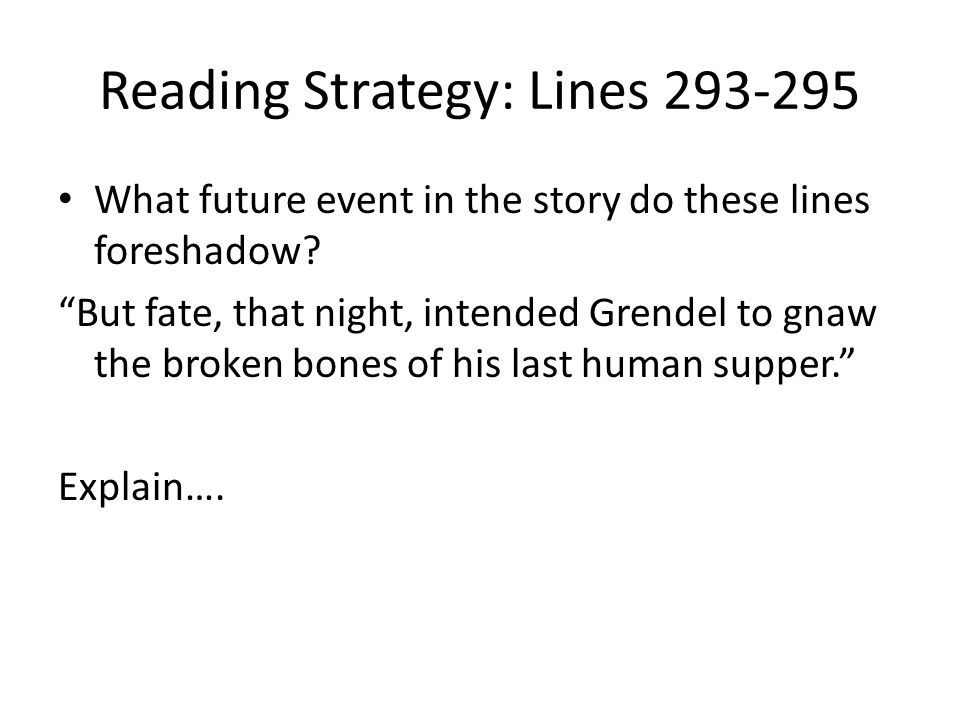 Reading Strategy: Lines 293-295