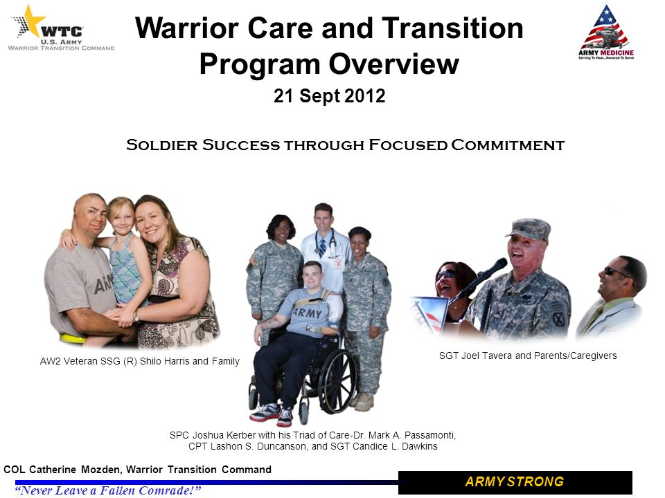 Warrior Care and Transition Program Overview