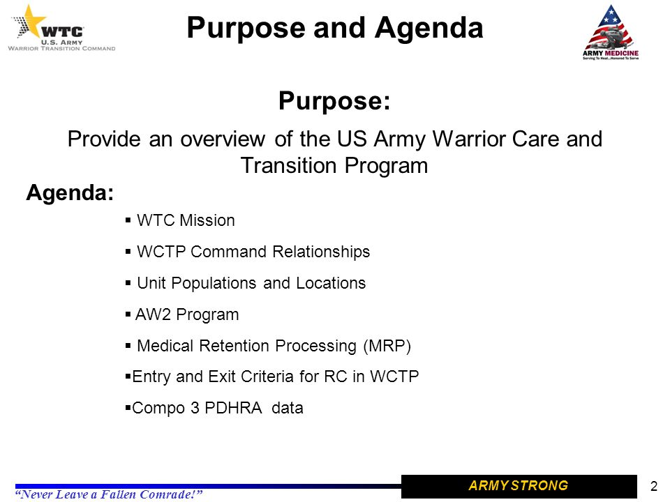 Provide an overview of the US Army Warrior Care and Transition Program